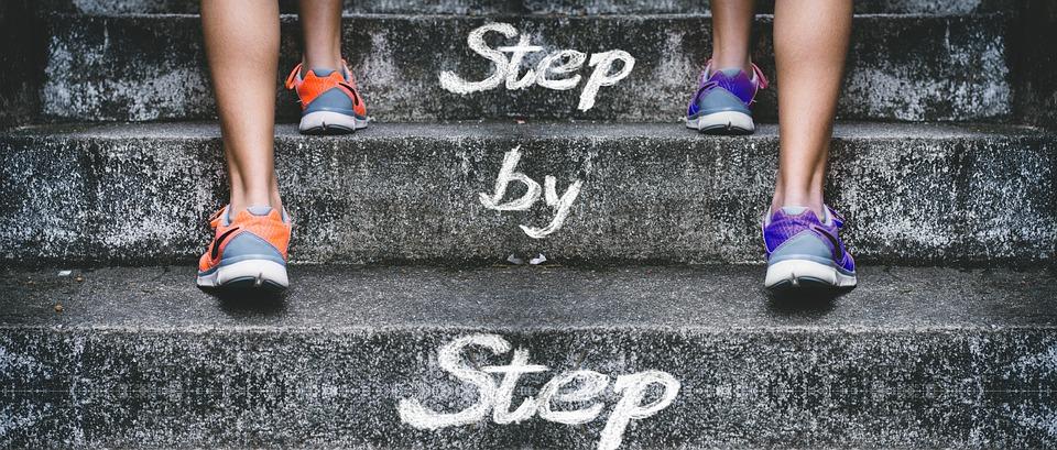 nohy, schody