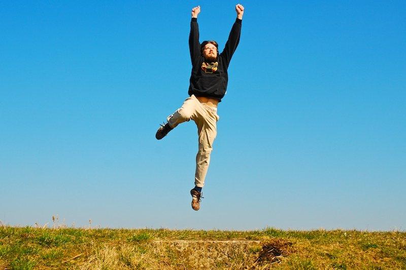 skok, víťazstvo